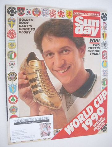 <!--1990-06-03-->Sunday magazine - 3 June 1990 - Gary Lineker cover