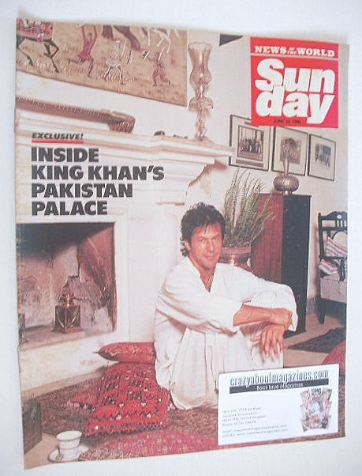 <!--1990-06-10-->Sunday magazine - 10 June 1990 - Imran Khan cover