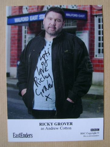 Ricky Grover autograph (ex EastEnders actor)