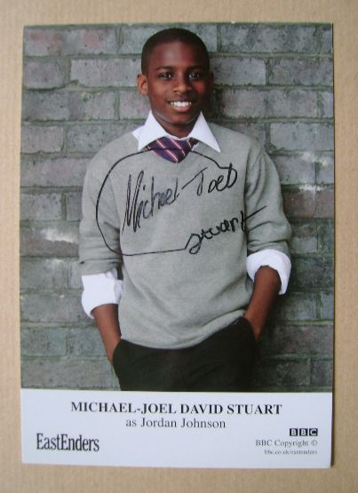 Michael-Joel David Stuart autograph (EastEnders actor)
