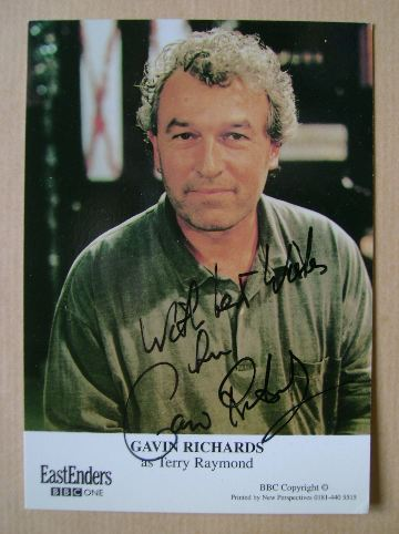 Gavin Richards autographed photo
