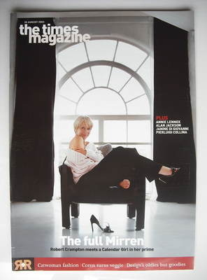 <!--2003-08-30-->The Times magazine - Helen Mirren cover (30 August 2003)