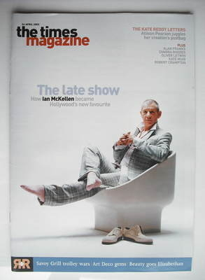 <!--2003-04-26-->The Times magazine - Ian McKellen cover (26 April 2003)