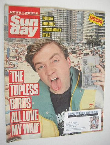 <!--1988-10-30-->Sunday magazine - 30 October 1988 - Harry Enfield cover