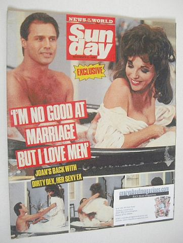 <!--1988-11-13-->Sunday magazine - 13 November 1988 - Joan Collins cover