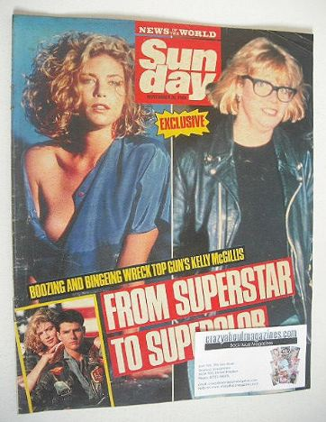 <!--1988-11-20-->Sunday magazine - 20 November 1988 - Kelly McGillis cover