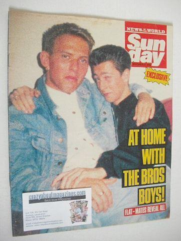 <!--1988-11-27-->Sunday magazine - 27 November 1988 - Bros cover