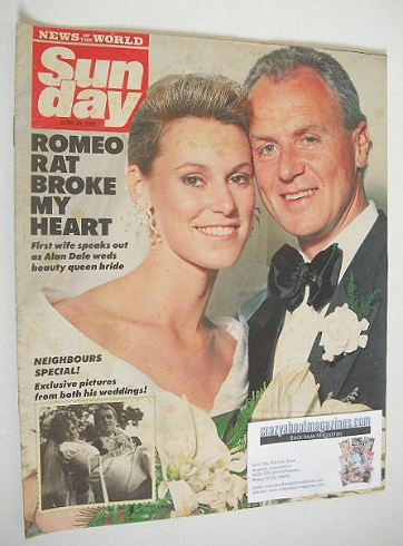 <!--1990-06-24-->Sunday magazine - 24 June 1990 - Alan Dale cover