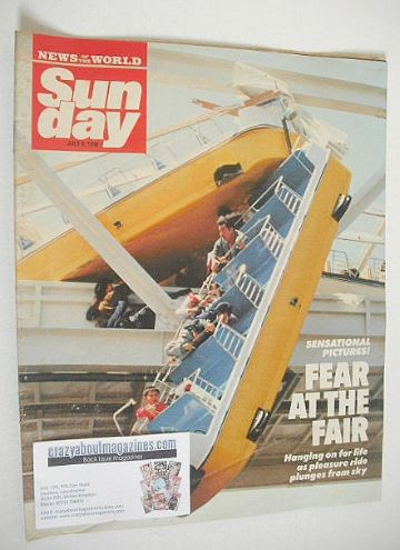 <!--1990-07-08-->Sunday magazine - 8 July 1990 - Fear At The Fair cover