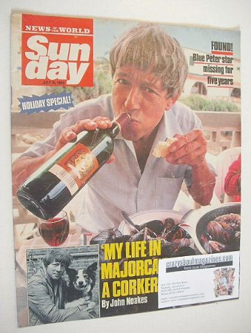 <!--1989-07-16-->Sunday magazine - 16 July 1989 - John Noakes cover