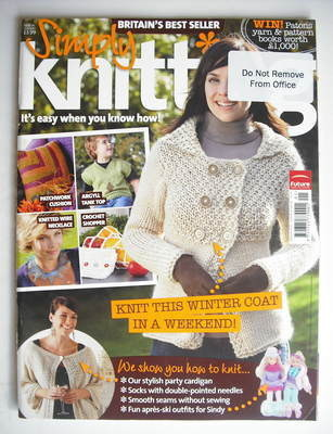 Simply Knitting magazine (Issue 36 - January 2008)