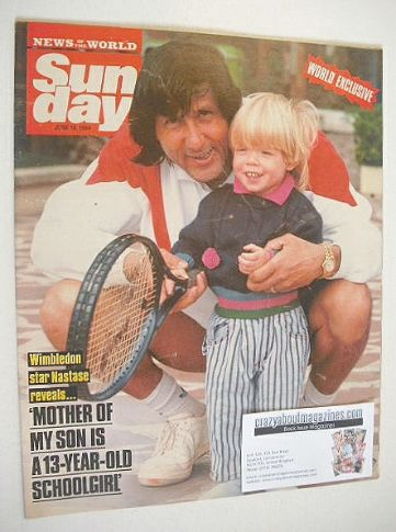<!--1989-06-18-->Sunday magazine - 18 June 1989 - Ilie Nastase cover