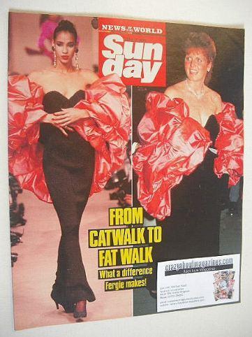 <!--1989-06-11-->Sunday magazine - 11 June 1989 - Catwalk To Fat Walk cover
