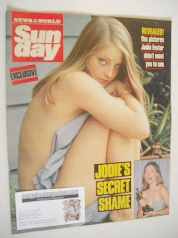 <!--1989-05-14-->Sunday magazine - 14 May 1989 - Jodie Foster cover