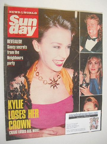 <!--1989-04-30-->Sunday magazine - 30 April 1989 - Kylie Minogue cover