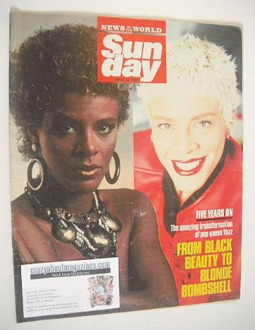 <!--1989-04-23-->Sunday magazine - 23 April 1989 - Yazz cover