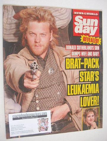 <!--1989-01-22-->Sunday magazine - 22 January 1989 - Kiefer Sutherland cove