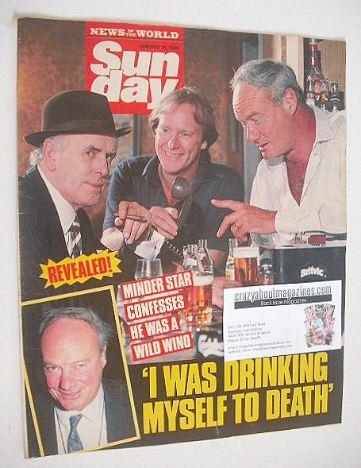 <!--1989-01-15-->Sunday magazine - 15 January 1989 - Glynn Edwards cover