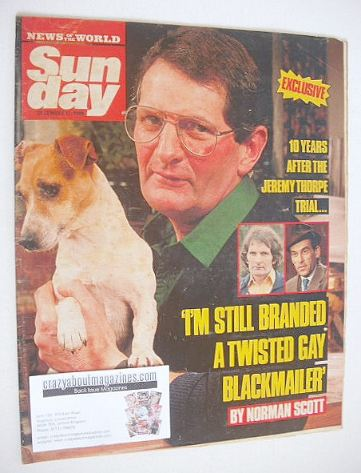 <!--1988-12-11-->Sunday magazine - 11 December 1988 - Norman Scott cover