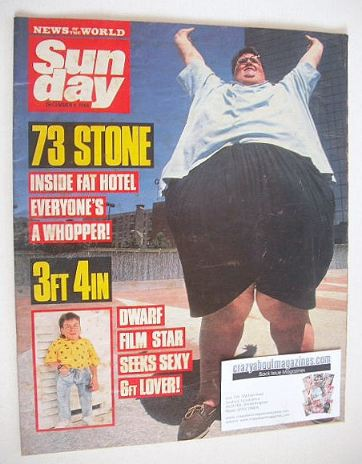 <!--1988-12-04-->Sunday magazine - 4 December 1988 - Large and Small cover