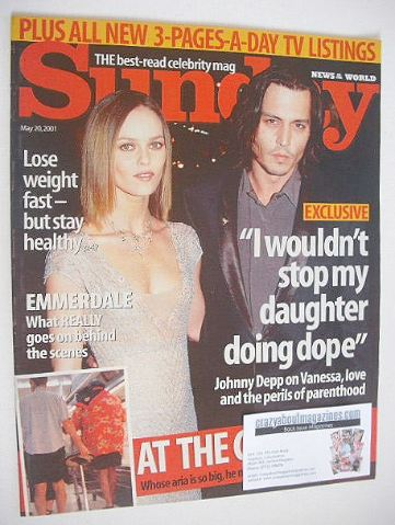<!--2001-05-20-->Sunday magazine - 20 May 2001 - Johnny Depp and Vanessa Pa