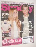 <!--2001-03-18-->Sunday magazine - 18 March 2001 - Jennifer Aniston and Brad Pitt cover