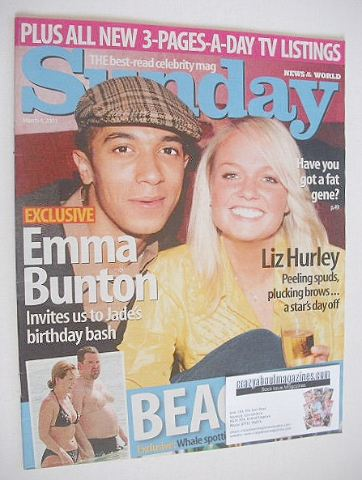 <!--2001-03-04-->Sunday magazine - 4 March 2001 - Jade Jones and Emma Bunto