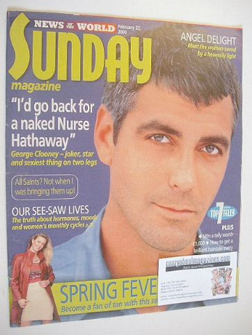 <!--2000-02-27-->Sunday magazine - 27 February 2000 - George Clooney cover