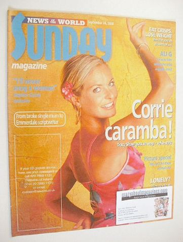 <!--2000-09-24-->Sunday magazine - 24 September 2000 - Tracy Shaw cover