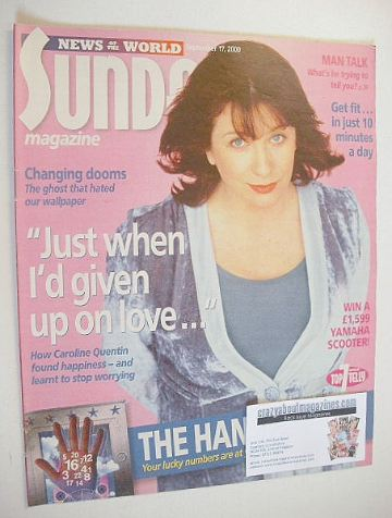 <!--2000-09-17-->Sunday magazine - 17 September 2000 - Caroline Quentin cov