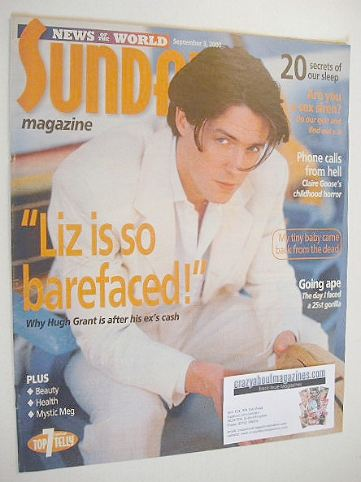 <!--2000-09-03-->Sunday magazine - 3 September 2000 - Hugh Grant cover