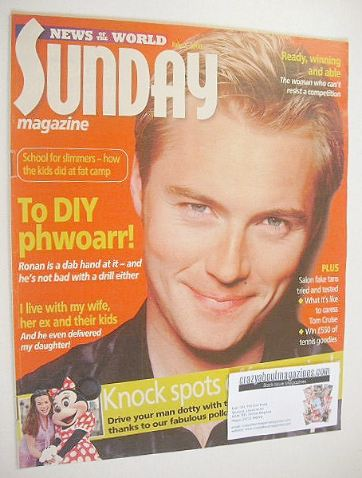 <!--2000-07-02-->Sunday magazine - 2 July 2000 - Ronan Keating cover