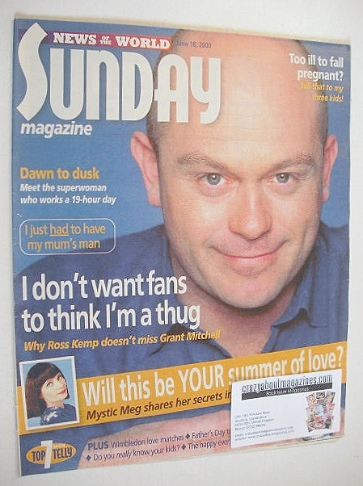 <!--2000-06-18-->Sunday magazine - 18 June 2000 - Ross Kemp cover