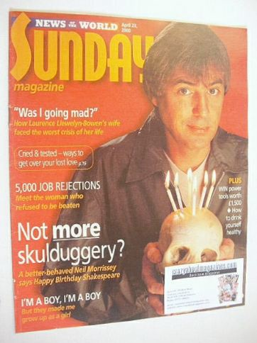 <!--2000-04-23-->Sunday magazine - 23 April 2000 - Neil Morrissey cover