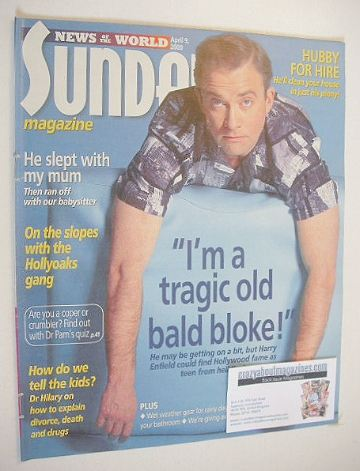 <!--2000-04-09-->Sunday magazine - 9 April 2000 - Harry Enfield cover