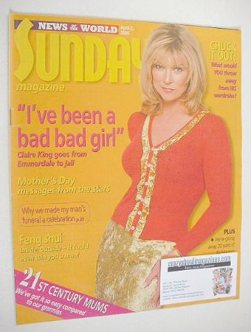 <!--2000-04-02-->Sunday magazine - 2 April 2000 - Claire King cover