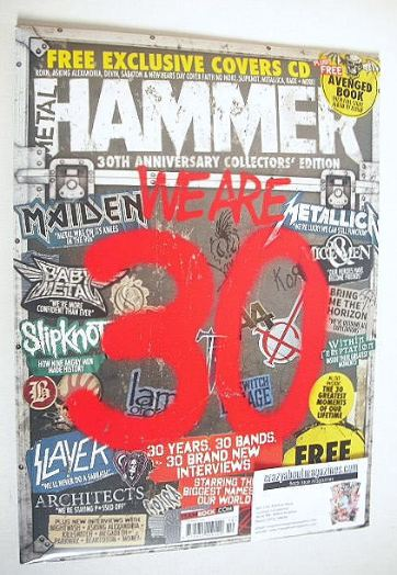 <!--2016-10-->Metal Hammer magazine - We Are 30 cover (October 2016)