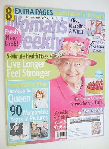 <!--2016-06-07-->Woman's Weekly magazine (7 June 2016 - The Queen cover)