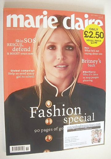<!--2016-10-->British Marie Claire magazine - October 2016 - Britney Spears
