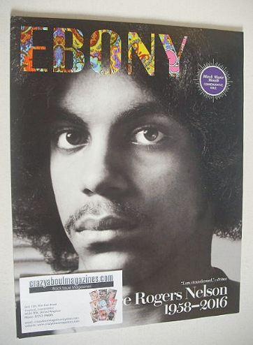 Ebony magazine - Prince cover (June 2016)