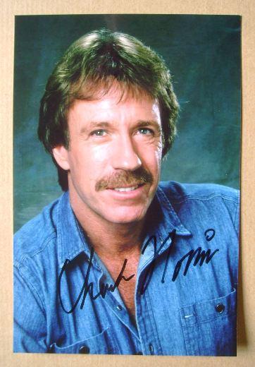 Chuck Norris autograph (hand-signed photograph)