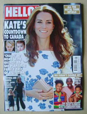 <!--2016-09-05-->Hello! magazine - Kate Middleton cover (5 September 2016 -