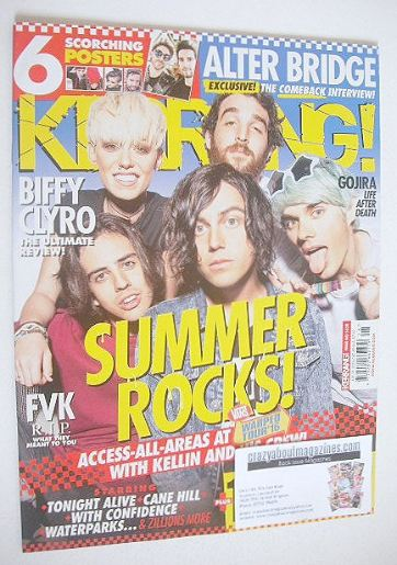 <!--2016-07-16-->Kerrang magazine - Summer Rocks cover (16 July 2016 - Issu