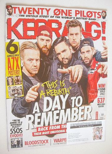 <!--2016-08-13-->Kerrang magazine - A Day To Remember cover (13 August 2016