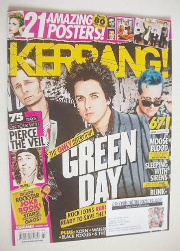 <!--2016-08-20-->Kerrang magazine - Green Day cover (20 August 2016 - Issue