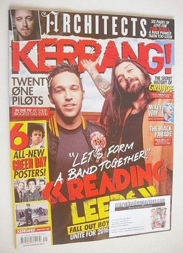<!--2016-09-03-->Kerrang magazine - Pete Wentz and Simon Neil cover (3 Sept