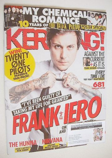 <!--2016-09-24-->Kerrang magazine - Frank Iero cover (24 September 2016 - I