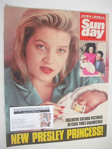 <!--1989-07-09-->Sunday magazine - 9 July 1989 - Lisa Marie Presley cover