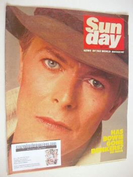 Sunday magazine - 1 May 1983 - David Bowie cover