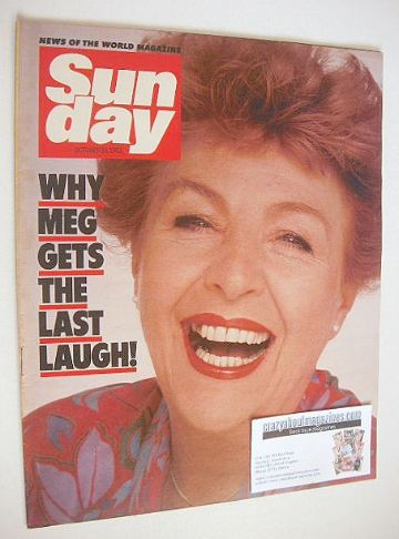 <!--1983-10-16-->Sunday magazine - 16 October 1983 - Noele Gordon cover
